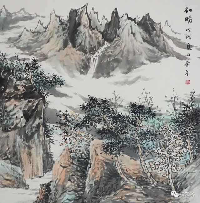 初睛 中国画 68×68CM