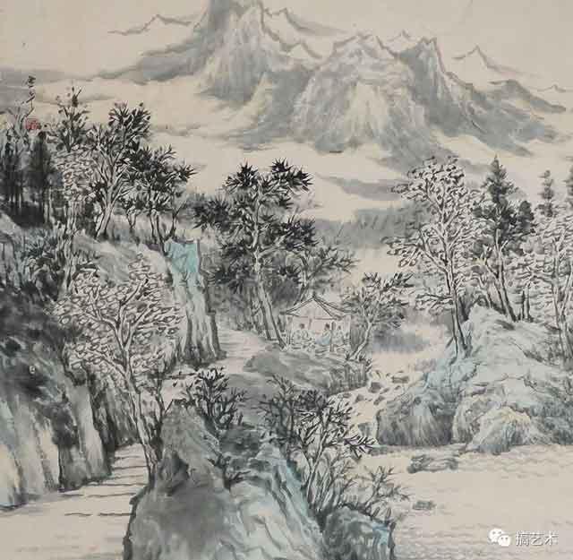 清风和鸣 中国画 68×68CM