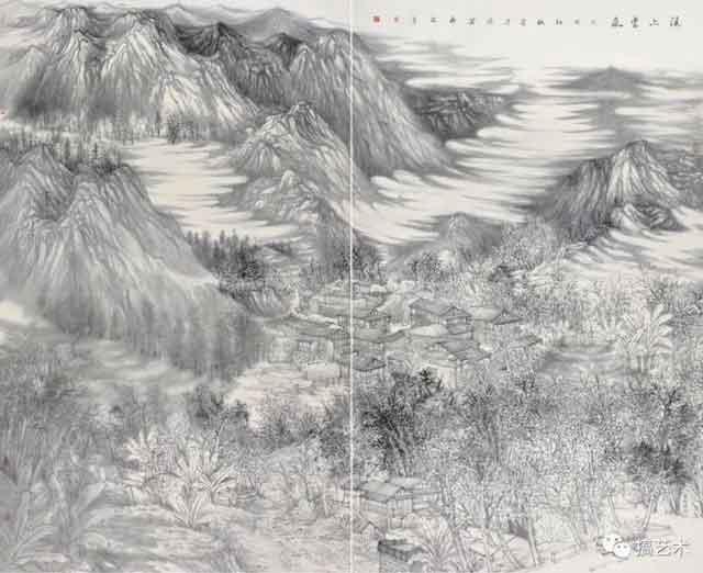 溪上云岚 中国画 200×250cm