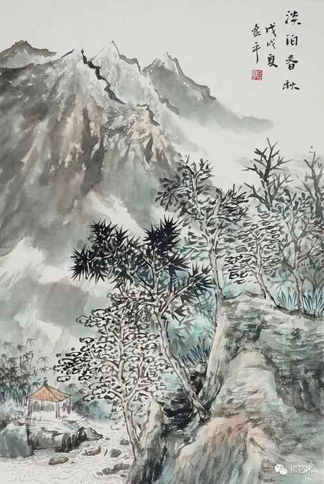 淡泊春秋 中国画 68×45CM